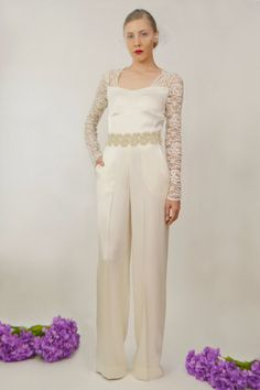 Juliet Silk Bridal Jumpsuit | 17 Impossibly Pretty Solange-Inspired Bridal Jumpsuits