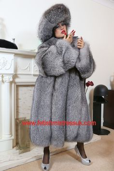 Smothered Head to Foot in My Gorgeous Soft Silver Fox Fur's... www.fetishmistressuk.com