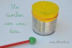 Hacer un tambor con una lata de conserva: ¡maravilloso y fácil instrumento!