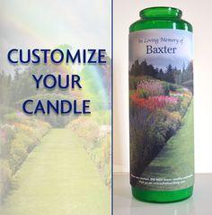 Pet memorial candle, pet sympathy, cat memorial, pet gift, rainbow bridge poem