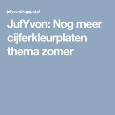 JufYvon: Nog meer cijferkleurplaten thema zomer