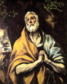 The Repentant Peter, 1600 El Greco - by style - Mannerism (Late Renaissance)