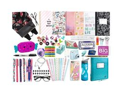 """""""What's in my backpack - back to school"""" by jovanaa-bogdanovic ❤ liked on Polyvore featuring interior, interiors, interior design, home, home decor, interior decorating, Madden Girl, Lanvin, Forever 21 and Dot & Bo"""