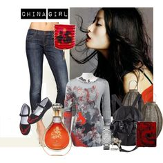China girl, created by dea-afrodite on Polyvore