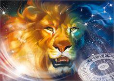 Sternzeichen Löwe Poster von Tanja Doronina