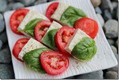 Vegan Caprese Salad via Daily Garnish