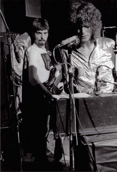 David Bowie and Tony Visconti, Roundhouse, London, March 11, 1970