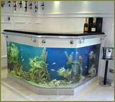 fish tanks made by tanked! Aquariums :: Bespoke L Shaped Bar Fish Tank :: Aquarium Manufacturers