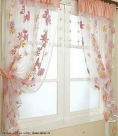 Fantastic beauty curtains in the kitchen .- Фантастической красоты шторы на кухню… Fantastic beauty curtains in the kitchen … - Shabby Chic Curtains, Home Curtains, Modern Curtains, Curtains With Blinds, Curtain Styles, Curtain Designs, Grey Kitchen Curtains, Interiores Shabby Chic, Living Room Divider