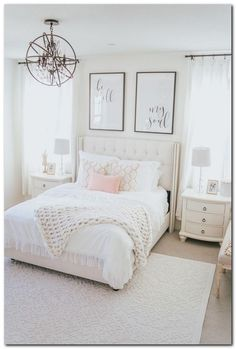 chic bedroom decorating ideas for teen girls 43 - Home - Bedroom Decor Beautiful Bedrooms Master, Bedroom Makeover, Elegant Bedroom, Home Bedroom, Luxurious Bedrooms, Stylish Bedroom, Modern Bedroom, Small Bedroom, Bedroom Decor