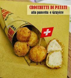 Crocchette di patate alla pancetta e Gruyère