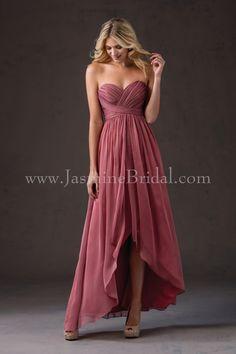 Jasmine Bridal Bridesmaid Dress Belsoie Style L184052 in Geranium