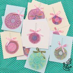 DIY Spiral Art Cards for Winter Holidays - Kids' Crafts