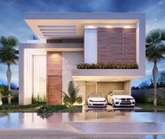 Modern House Design 693976623819374926 - Source by Modern Exterior House Designs, Modern House Facades, Dream House Exterior, Modern Architecture House, Residential Architecture, Modern House Design, Architecture Design, Exterior Design, Duplex Design