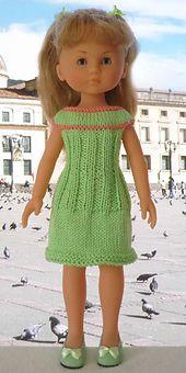 Robe verte et orange pour les Chéries pattern by marieetlaines