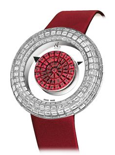 Jacob & Co.'s Brilliant Mystery Baguette Collection Timepiece Invisibly set…