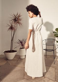 Sustainable Design, Sustainable Fashion, Bow Slides, White Linen Dresses, Shine Your Light, Gift Of Time, New Earth, Made Clothing, Pure White