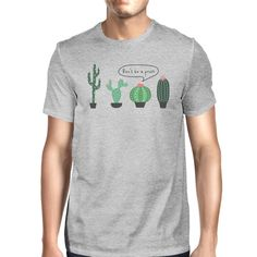 Don't Be a Prick Cactus Mens Casual Relaxed Comical T-Shirt For Him