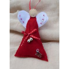 Handmade charm 'ANGEL' Happy Art, Handmade Felt, Charmed, Craft Ideas, Christmas Ornaments, Holiday Decor, Crafts, Products, Noel