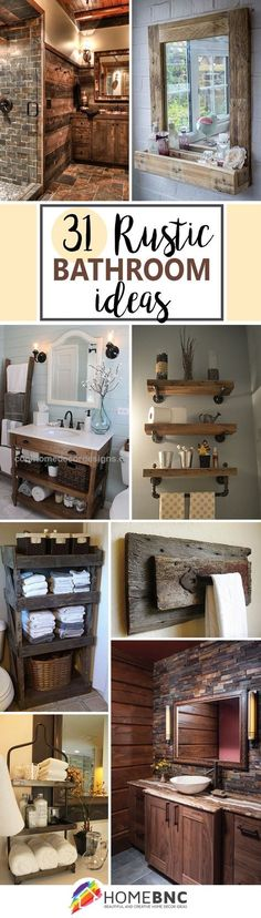 31 rustic bathroom ideas