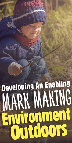 Developing An Enabling Mark-Making Environment Outdoors Writing Ideas, Writing Activities, Kindergarten Writing, Literacy, Mark Making Early Years, Forest School Activities, Foundation Stage, Home Education Uk, Process Art