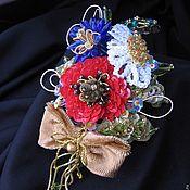 "Handmade Jewelry.  Fair Masters - handmade brooch ""A Little Piece of Summer"" III.  Handmade."