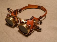 A most impressive pair of Brass Goggles by Chance Zero