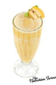 Banana-Coco Sunrise Juice | Perfect Way to Start Your Morning- 3 Easy, Healthy Ingredients | For MORE RECIPES please SIGN UP for our FREE NEWSLETTER NutritionTwins.com