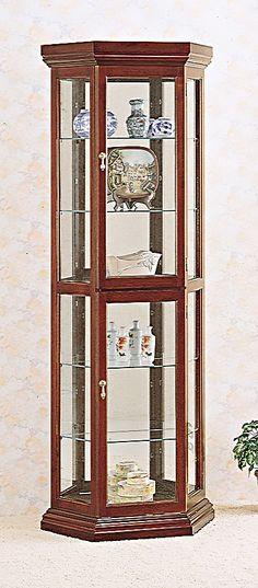 Curio Cabinet In Cherry
