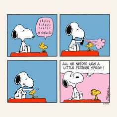Snoopy and Woodstock.