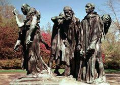 Os  Burgueses de Calais (Monumento à Guerra dos 100 Anos)  Impressionismo em Bronze de Rodin -  1884 à 1889