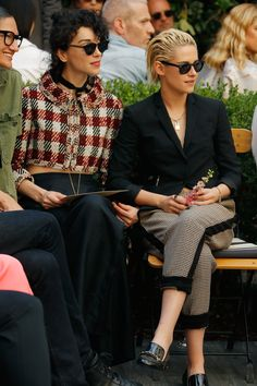 St. Vincent and Kristen Stewart front row at the CFDA/Vogue Fashion Fund Show