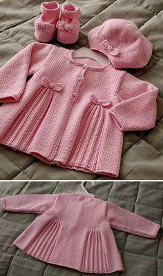 Baby Cardigan Knitting Pattern Free, Kids Knitting Patterns, Baby Sweater Patterns, Knitted Baby Cardigan, Knit Baby Sweaters, Knitted Baby Clothes, Knitting For Kids, Free Knitting, Cardigan Sweaters