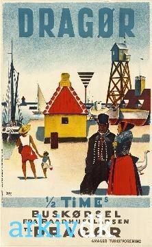 Turistplakat Dragør 1952