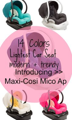 Maxi-Cosi Launches Lightest Car Seat: Introducing The Mico AP