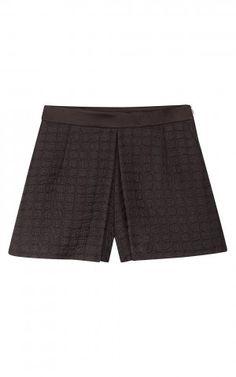 Sandro Textured High Waist Shorts