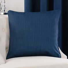 Solar Navy Cushion Cover | Dunelm