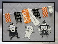 Happy Halloween handmade card  Stampin' Up by DeannsCreativeCorner, $3.25