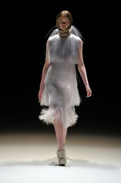 This is basically fiber-optic cables woven into a dress. | 14 High Fashions Straight Out Of Our Dystopian Future