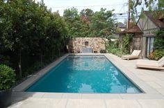 Pretty, private backyard pool design. Discovered on porch.com