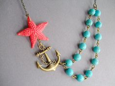 Statement Nautical NecklaceBridesmaid Jewelry by RachelleD on Etsy, $35.00