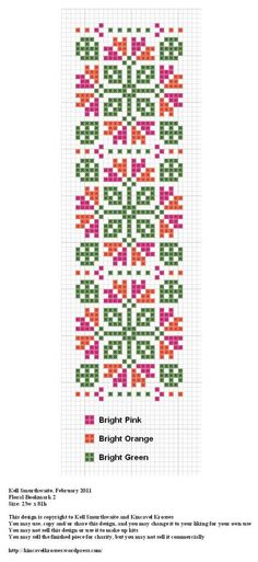 Floral Bookmark - grille - cross stich