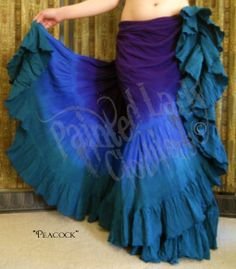 """Peacock"" 25 Yard Petticoat Skirt.  You can order yours or create your own color combo here:  http://www.paintedladyemporium.com/Shop-Here.html"