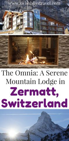 If you find yourself in Zermatt, Switzerland, you have to check out this beautiful mountain lodge. It features modern amenities and incredible views. Check out this beautiful mountain lodge in Zermatt, Switzerland and save it to your travel board so you can find it later!