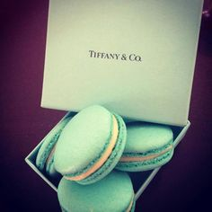 Tiffany inspired Macarons - party favors