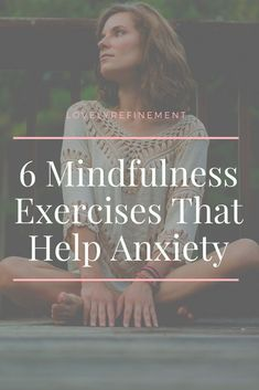 Practicing mindfulness is one of the best ways to reduce anxiety and depression. Here are 6 mindfulness exercises that will guide you towards feeling calmer. Deal With Anxiety, Anxiety Tips, Anxiety Help, Social Anxiety, Stress And Anxiety, Overcoming Anxiety, Anxiety And Depression, Ways To Help Depression, Anxiety Facts