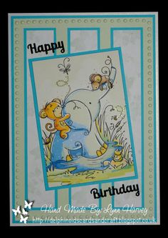 Delphinoid's Cards and Craft: Birthday Card - Animal Friends