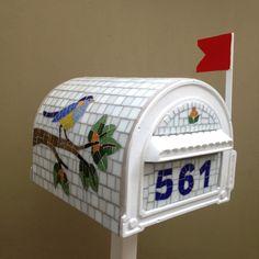 Caixa correio - Pássaro (com numeral)