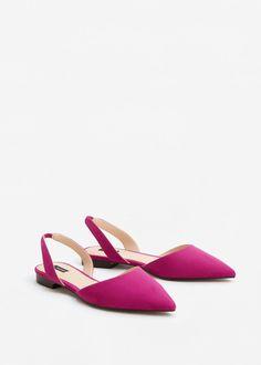 Bailarina destalonada - Zapatos de Mujer | MANGO España