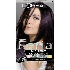 L'Oreal Feria midnight star--just dyed my hair with this. Not really black but a nice cranberry or burgundy tint. n.s.